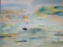 Paysage pastel 40 x 30 cm
